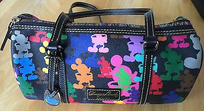 Dooney And Bourke Disney Mickey Mouse Leather Barrel Hand Bag