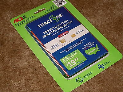 TRACFONE BYOP Bring Your Own PHONE Sim Card Activation Kit TRIPLE Minutes 4LIFE!