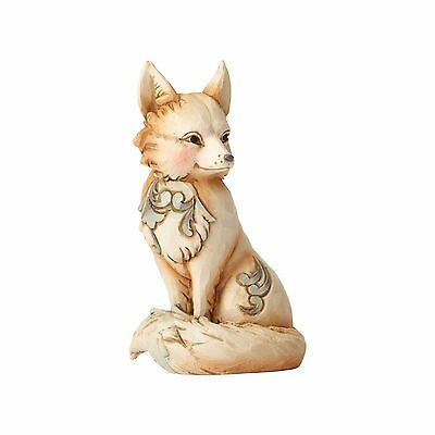 Jim Shore Heartwood Creek White Woodland Fox 4056971 Sly, Spry & Dignified NEW