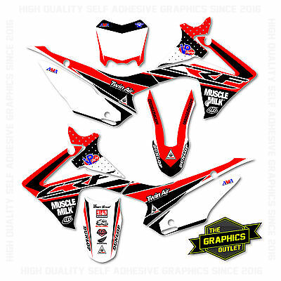 Honda Crf110 2013-2016 Factory Style 2  Motocross Mx Graphics Decals Stickers