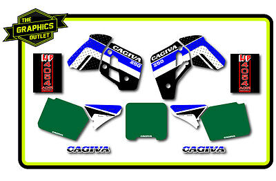 Cagiva Factory Style 1989 Wmx250 Full Kit Motocross Mx Graphics Decals Stickers
