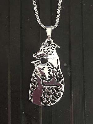 Ladies Double Pair DOG NECKLACE .... Greyhound ~ Whippet ~ Podenco