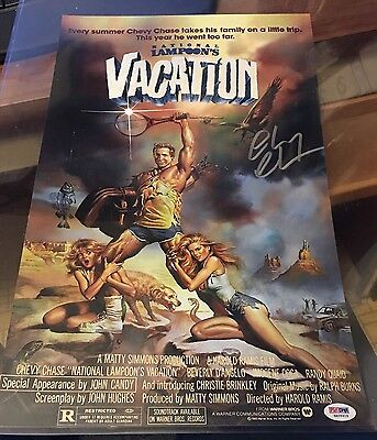 CHEVY CHASE Signed Nat. Lampoon's Vacation 11x14 Movie Poster - PSA/DNA 6A56919