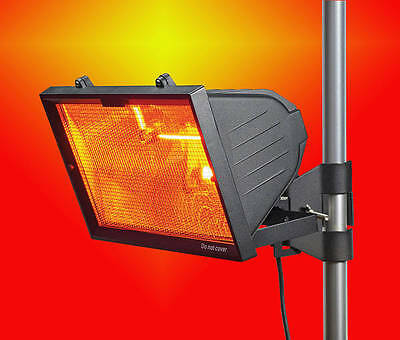 Patio Heater 1300w Black- Wall or Pole Mounted