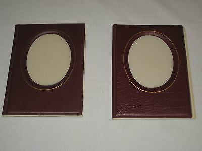 """Set of 2 small Photo Albums  4"""" x 6"""" Pictures holds 24 NOS"""