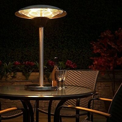Electric Halogen Table Top Patio Heater