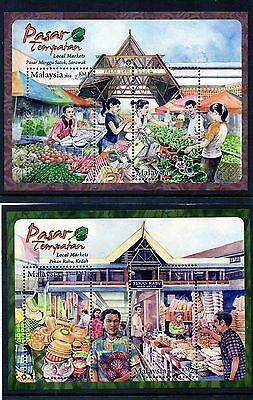 MALAYSIA :  2010 SG MS1645/6 Local Markets miniature sheets. MNH ( SET OF TWO )