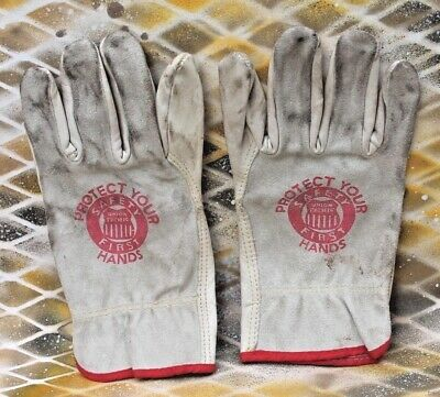 Union Pacific Leather Gloves, Small