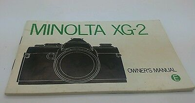 Minolta XG-2 Owners Manual 52p