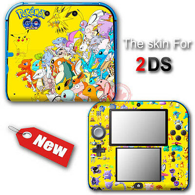 Pokemon Go Yellow Edition Pikachu Skin Sticker Decal Cover #2 for Nintendo 2DS