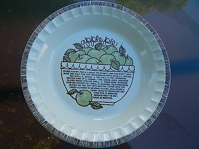 Royal China Jeannette Apple Pie Plate - Deep Dish with Recipe