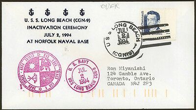 USS Long Beach CGN-9 Inactivation 1994 US Navy