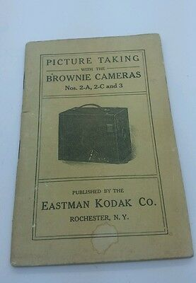 Original manual PICTURE TAKING WITH THE BROWNIE CAMERAS Nos. 2-A 2-C and 3   56p