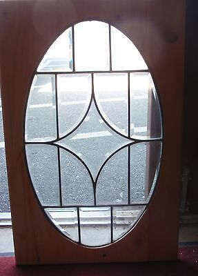 Early 20th century beveled stained glass window
