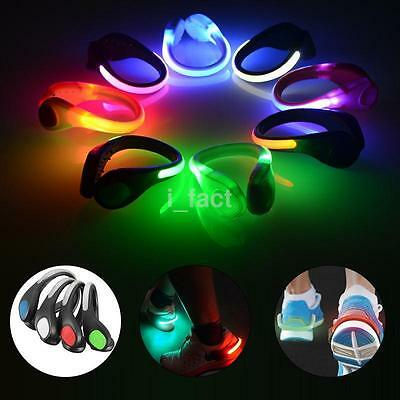 Portable Safety Night LED Luminous Light Shoe Clip for Runners Joggers Walkers