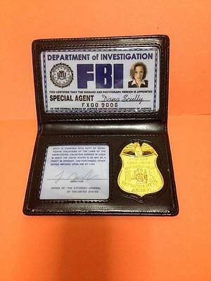 X-File Film ID Wallet & Badge Prop Inside badge Type Scully
