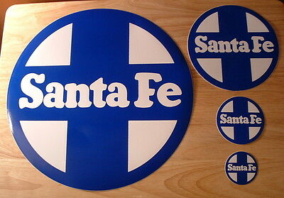 Vintage Authentic Group of Santa Fe Railroad Stickers - Mint Condition