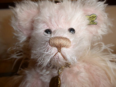 """FAITH 19"""" Mohair Angel Bear with locket from Angel Collection Annette Funicello"""