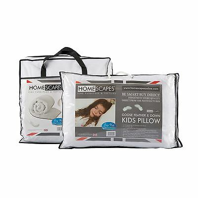 Goose Feather, Goose Feather & Down Kids Duvet & Pillow Set, 10.5 and 4.5 Tog