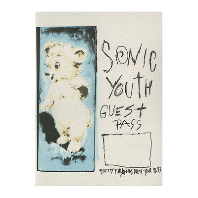 Sonic Youth authentic Guest 1992-1993 tour Backstage Pass