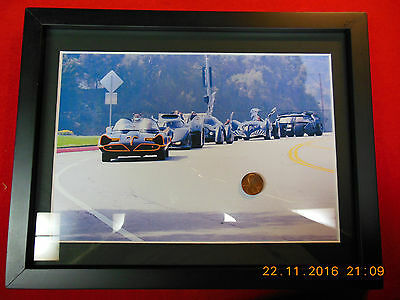 Rare  custom Batmobile picture framed and matted