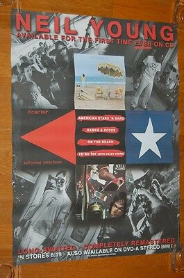 Neil Young Remastered CDs US Promo Poster Reprise Records