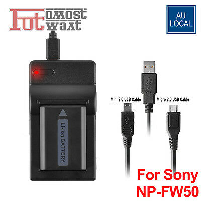 NP-W50 USB Charger For Sony Alpha a3000 A5000 A5100 NEX-3 AU Local