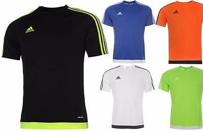 Adidas 3 Stripe Estro T Shirt Mens Adidas Climalite Training Top All sizes S-XXL