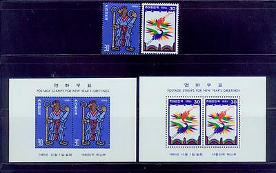 south korea /1980 chicken-greeting new year 2s+2s/s -scv$4.7/MNH.good condition
