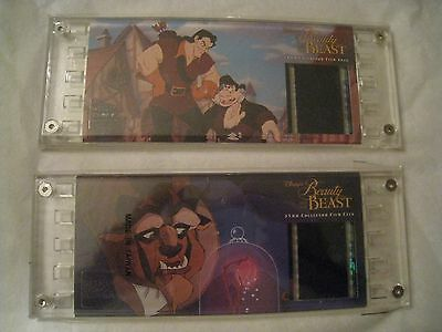 2 NEW BEAUTY & THE BEAST DISNEY'S -BEAST & GASTON EDITION  35mm FILM CELL