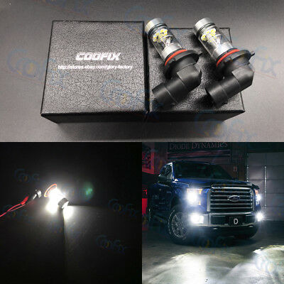 NEW 2x H10 9145 9140 9040 100W 6000K Super White LED HID CREE Fog Lights Bulb #1