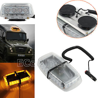 24LED Vehicle Roof Amber Recovery Lightbar Flashing Strobe Beacon Light Magnetic