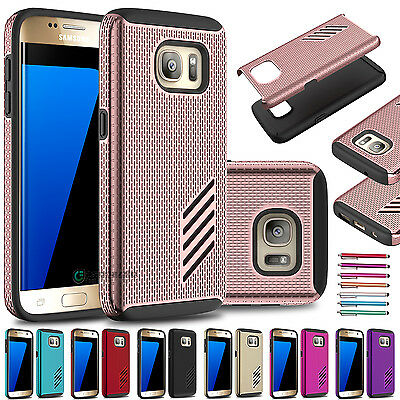 PC Shockproof Hybrid TPU Hard Rubber Armor Case Cover for Samsung Galaxy S7 edge