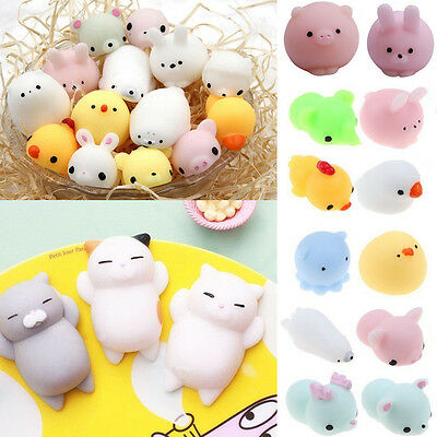 Kawaii Stretch Animal Sea Lion Mochi Squeeze Kids Toys Soft Press Doll Squishy