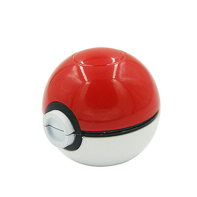 55mm 3 Layer Zinc Alloy Pokeball Pokemon Tobacco Mil Spice Herb Grinder Gift W