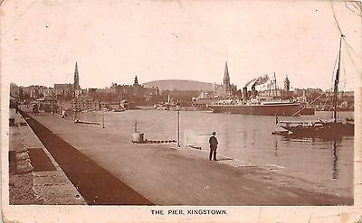 BR62186 the pier kingstown ship bateaux real photo   northern ireland