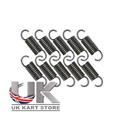Pack of 10 x 55mm High Tension Exhaust Springs UK KART STORE