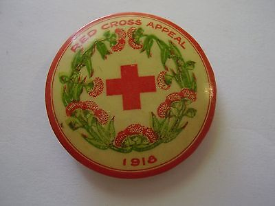 WW1 Home Front 1918 Red Cross Appeal Button Badge Wattle