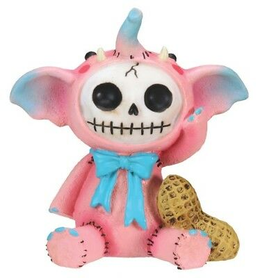 FurryBones Elefun Figurine Pink Elephant Cute Skull Skeleton Gift Blue Different