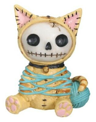 FurryBones Mao-Mao Figurine Yellow Cat Kitten Skull Cute Skeleton Gothic Gift