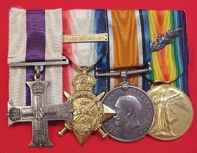 Rare Ww1 British Army 1914 Star & Bar Military Cross Medal Group Major Creery