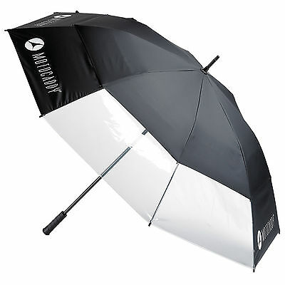 Motocaddy Clearview Umbrella - New Double Canopy Windproof Auto Open Brolly