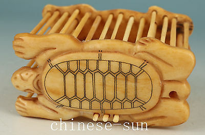 Nice Chinese Old No Plastic Handmade CarvingTurtle Statue cage gift