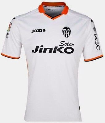 Valencia Fc Home Football Shirt White Adult Size Large Bnwt Rrp £55