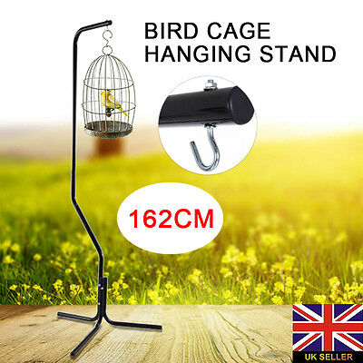 162cm Bird Cage Hanger Tripod Hanging Stand with Black Iron Tube Frame+Hook