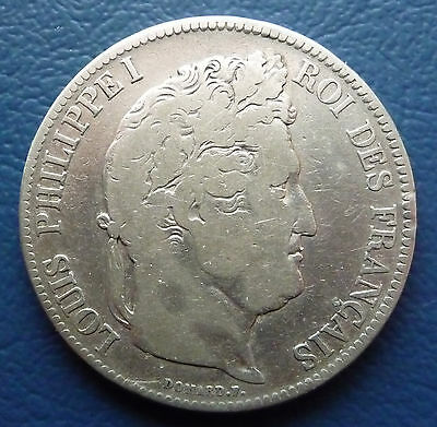 5 Francs Silber 1833 T Louis Philippe I. Frankreich ss