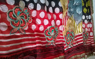 Children's Bollywood designer sarees & matching blouse for Diwali for 7-12yrs