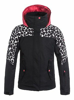 Chaqueta para nieve Snow Roxy Jetty Colorblock Irregular Dots True Black Talla16