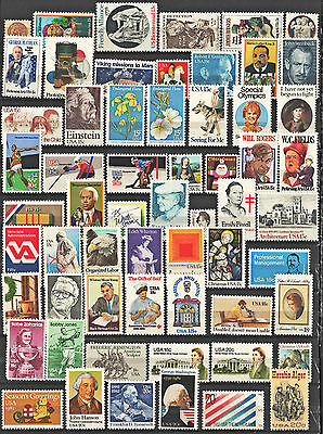 Mint Overstock Lot at Face: 60 Stamps MNH