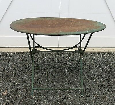 Antique French Garden Table Bistro Table Iron Folding Table